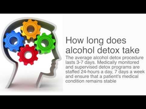 How long does alcohol detox take