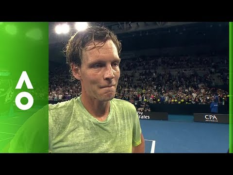 Tomas Berdych on court interview (1R) | Australian Open 2018