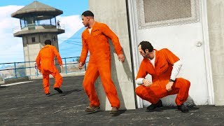 GTA 5 - Can Michael, Trevor & Franklin ESCAPE Prison?