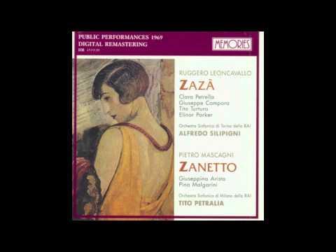Pietro Mascagni - Zanetto. Aria: Io quì potrei forse restare. Zanetto, Giuseppina Arista.