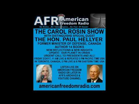 Urgent Call To All World Leaders:  Our Planet Is In Crisis! Hon. Paul Hellyer With Carol Rosin