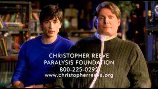 Tom Welling & Christopher Reeve in Smallville