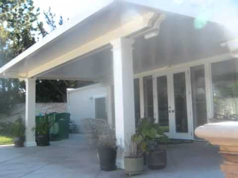 Alumawood Patio Cover Video Newport Flat Pan 2 Wmv Youtube