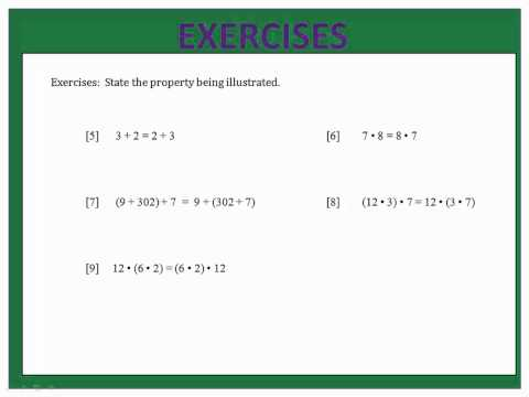 Properties:  Associative, Commutative & Distributive