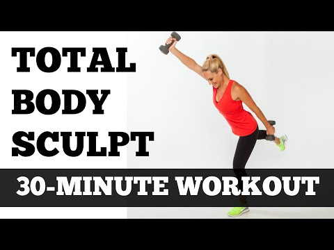 Full Body Workout At Home | 30 Minute Total Body Sculpting Fat Burning Exercise Video