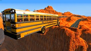 Can A School Bus Jump The GRAND CANYON?? BeamNG.Drive