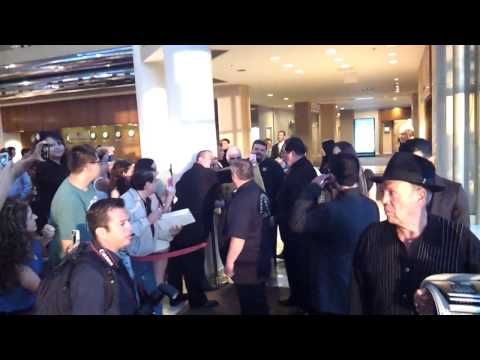 Vicente Fernandez saying Hi to fans before his concert at the Gibson Universal