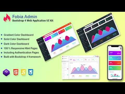 Fobia - Bootstrap 4 Web Application UI Kit | Themeforest Website Templates  and Themes
