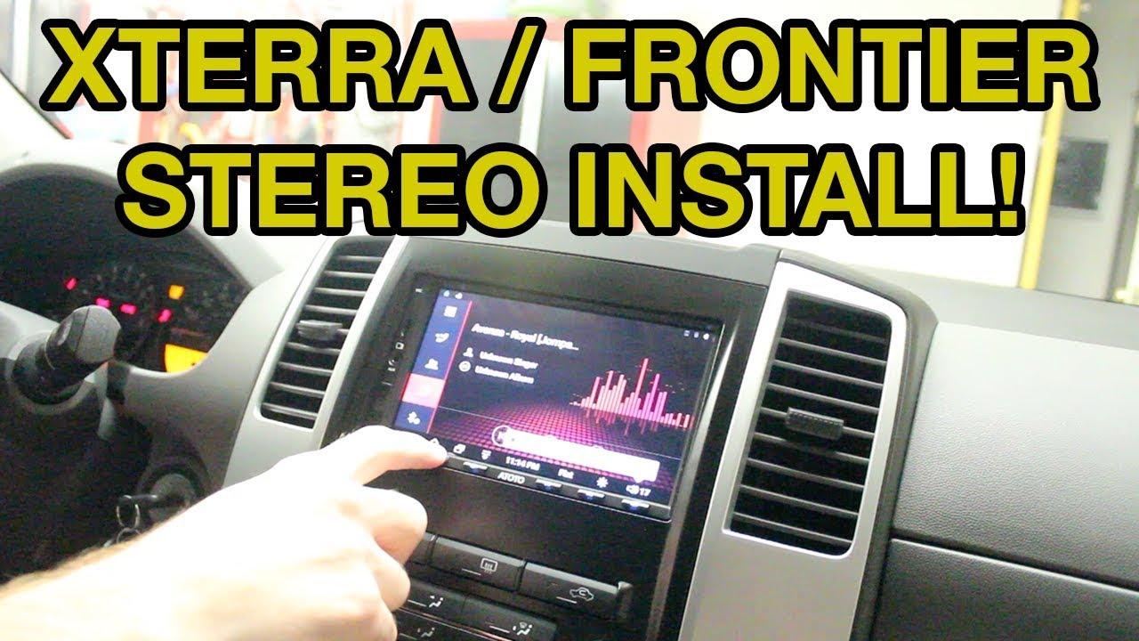 medium resolution of nissan xterra frontier stereo install atoto a6