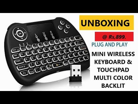 bb23a475822 Rii i8+ - 2.4GHz MINI WIRELESS KEYBOARD WITH TOUCHPAD BACKLIT EQUIVALENT  UNBOXING HINDI | MI TV