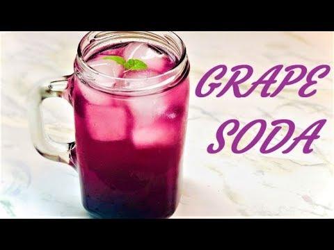 GRAPE SODA | FRESH CONCORD GRAPE SODA DRINK