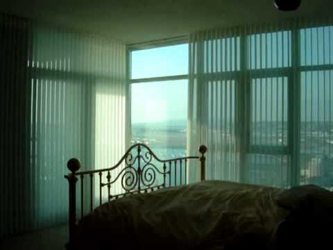 Motorized Hunter Douglas Luminette Blinds by 3 Blind Mice Window Coverings - San Diego