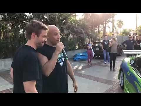 Vin Diesel was surprise...  LIVE STREAMS
