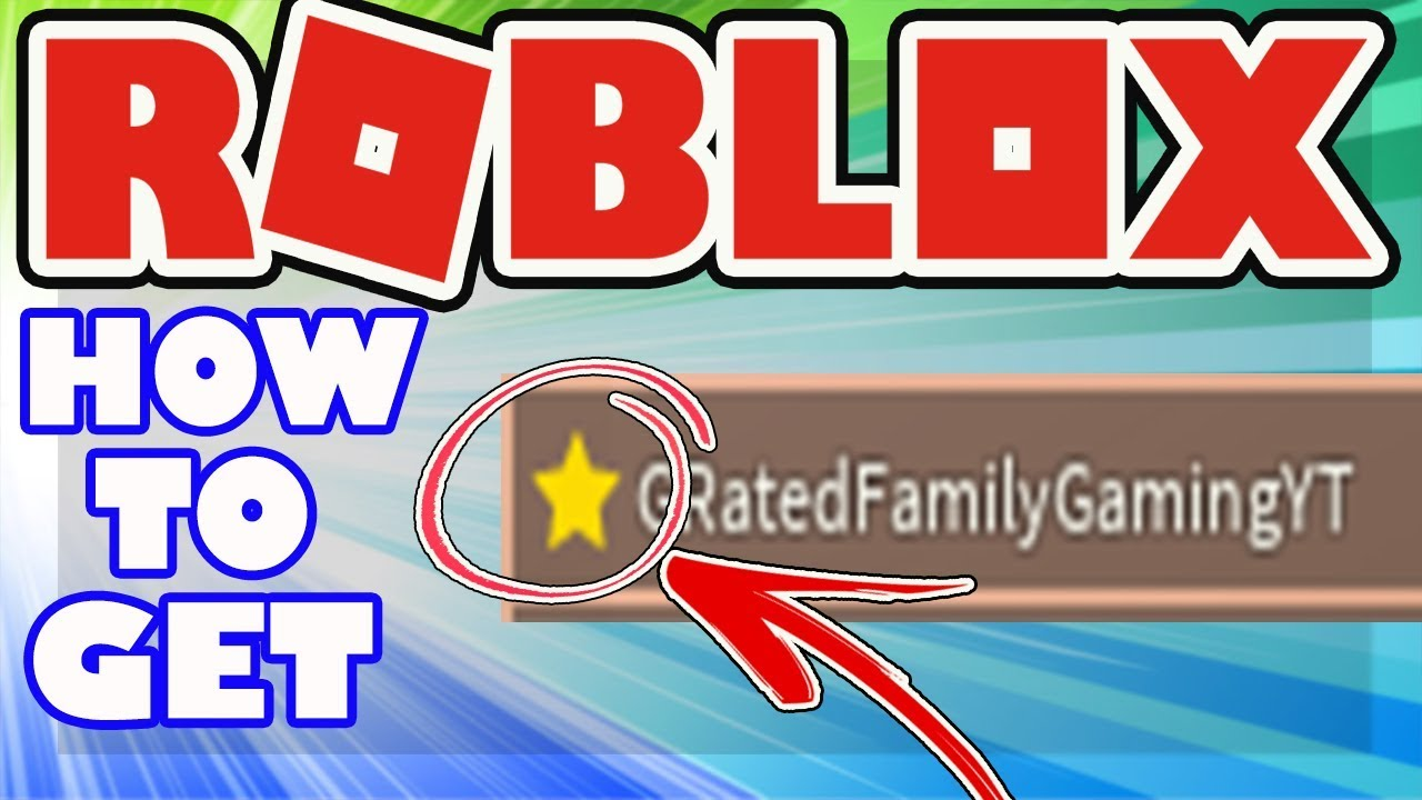 How To Get The Star Badge Next To Your Name In Roblox Video Creator Stars Program Star Username Youtube