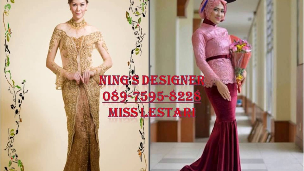 Telp 089 7595 8228 Three Designer Kebaya Muslim Bandung Designer Kebaya Pengantin Bandung