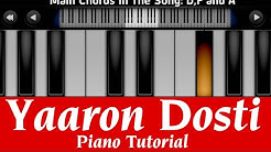 Yaaron Dosti Badi Hi Haseen Hai I Perfect Piano Tutorial | Mobile Piano Songs Notes | App instrument