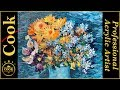 Van Gogh  Blue Vase with Flowers Acrylic Painting Tutorial for Beginner and Advanced Artists