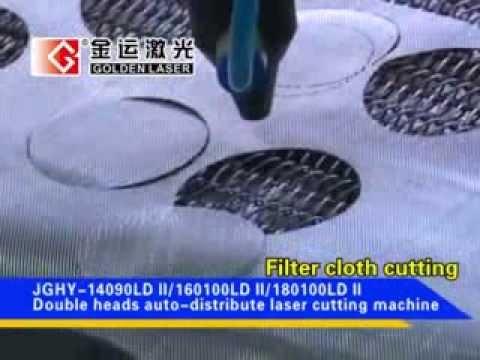 double head laser cutting machine for filter cloth,filter fabric,fiberglass