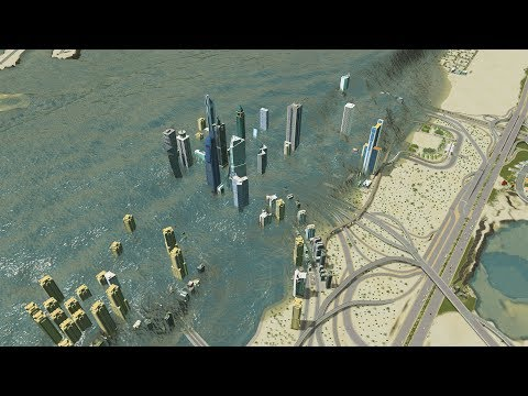 DUBAI vs MASSIVE TSUNAMI - Cities Skylines