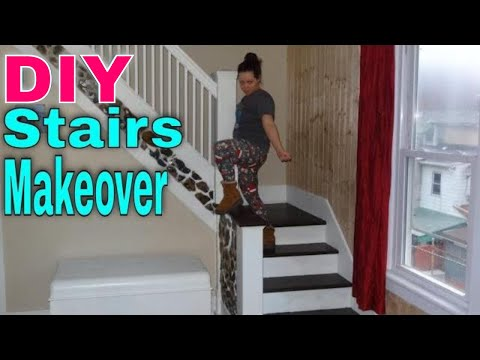 Staircase Makeover | DIY STAIRS RENOVATION!