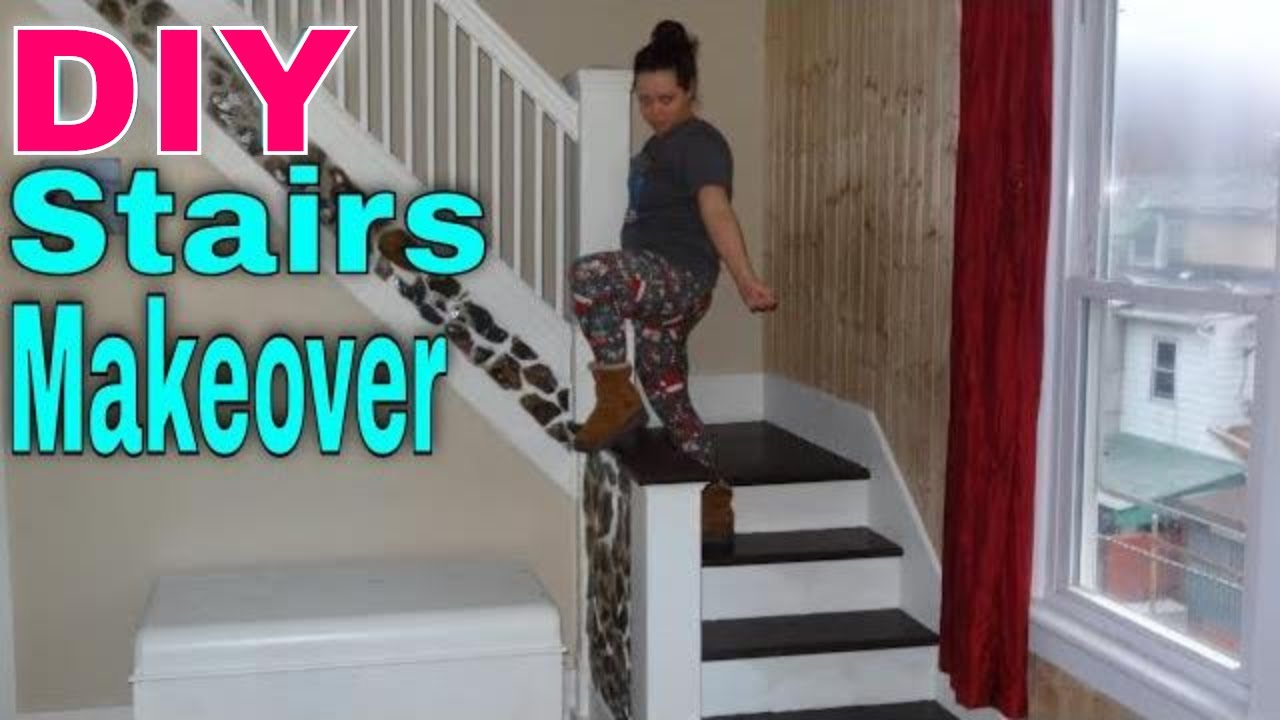 Staircase Makeover   DIY STAIRS RENOVATION!