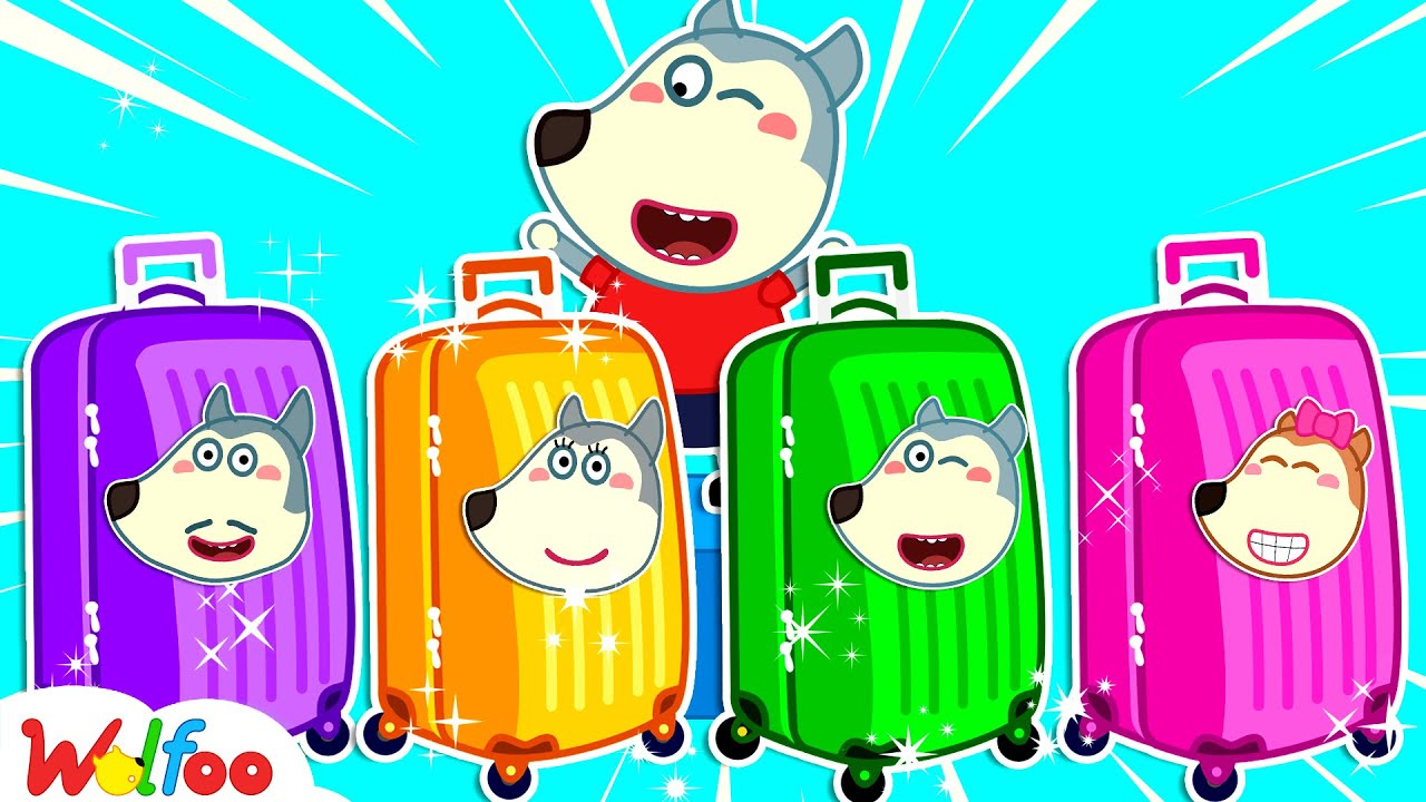 Download Wolfoo Plays with Colorful Luggage Suitcase Toys - Kids Stories About Wolfoo Family | Wolfoo Channel