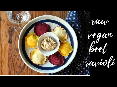 How to make RAW VEGAN apple beet ravioli