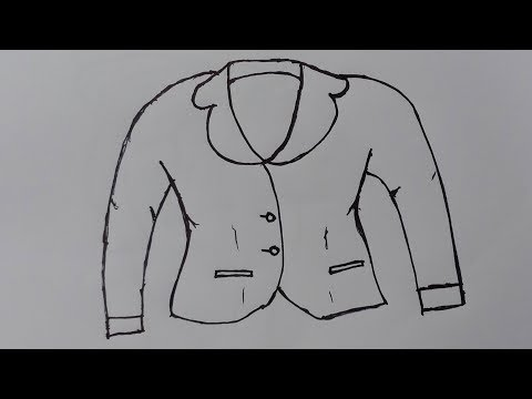 How to draw a man kot and tie -draw a suit and tie step by step