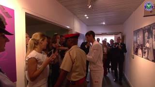 Victorious Novak Djokovic greets fans and famous faces thumbnail