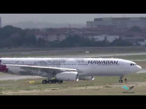 "1st landing Airbus A330-243 Hawaiian Airlines ""Hōkū Mau"" N361HA New livery"
