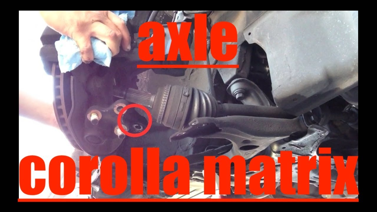2011 Camry Engine Diagram Wrong Axle Replacement Toyota Corolla Matrix Fix It