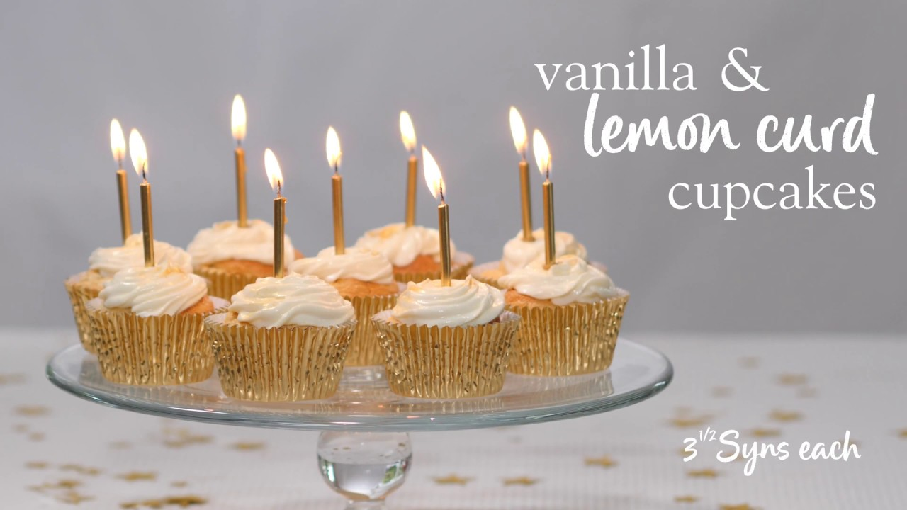Slimming World Vanilla And Lemon Curd Cupcakes 3 ½ Syns Each