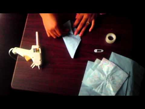 Baby Shower Favors Napkin Diapers ~ How to do a diaper napkin youtube