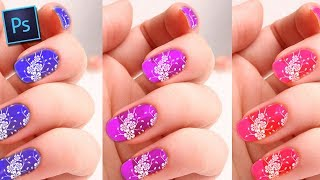 Apply Nail Polish Design on your nails in Photoshop - Tamil Tutorials