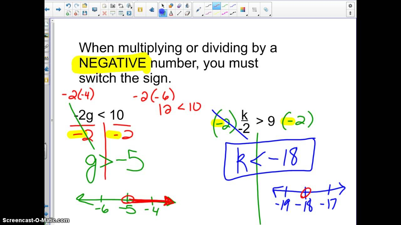 6 7 Solve Inequalities By Multiplication Or Division