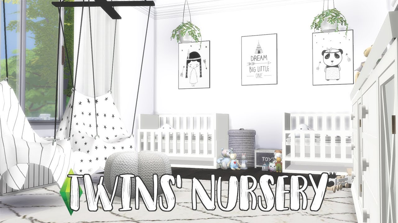 Sims 4 Toddler Stroller Mod The Sims 4 Speed Build Twins Nursery Cc Links