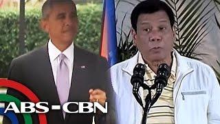 tv patrol mga reaksyon sa banat ni duterte kay obama