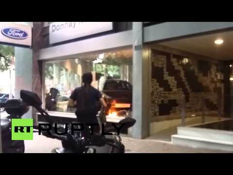 Spain: Shops and banks damaged at Barcelona anarchist rally