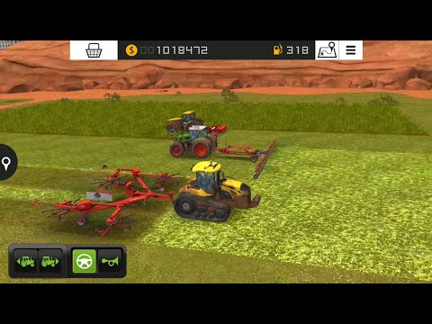 Fs18 farming simulatör 2018 / ot biçme ve karıştırma / mow grass / # 289 HD /