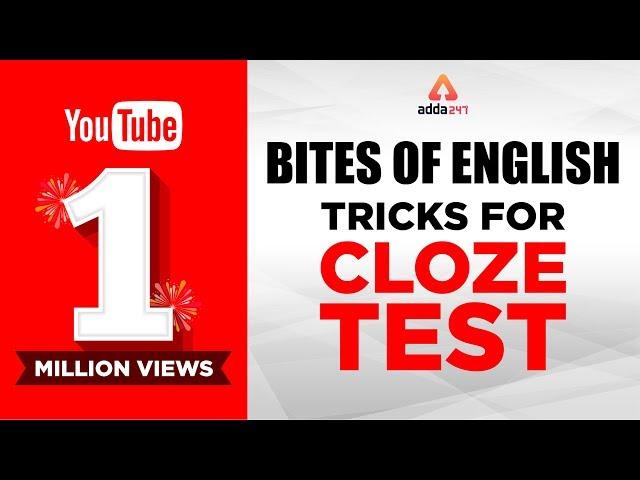 Bites of English : Tricks for Cloze Test
