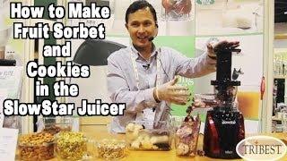How To Make Frozen Fruit Sorbet & Cookies In The Slowstar Juicer
