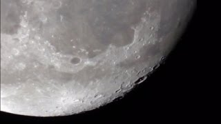 This is what the Moon looks like through a telescope