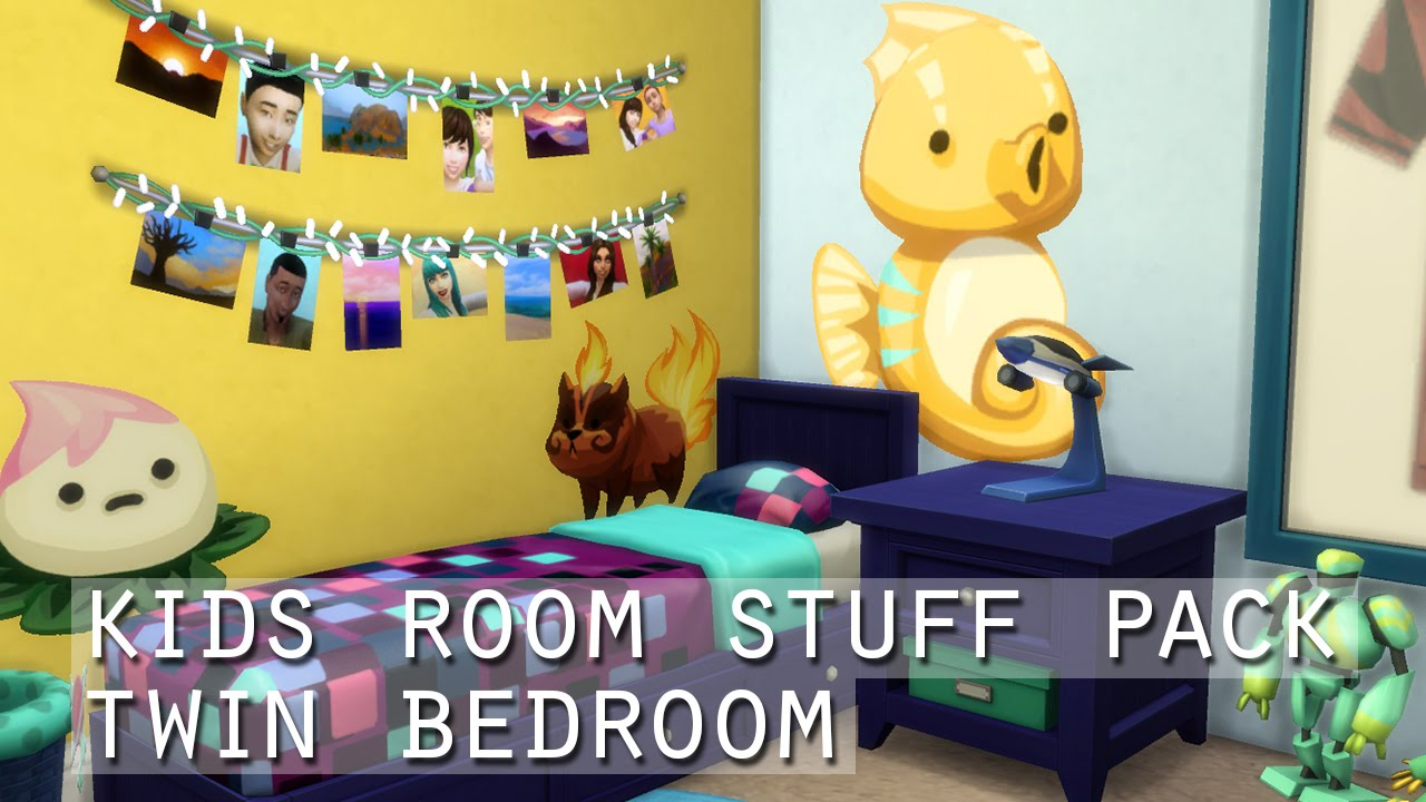 Kids Room The Sims 4 Kids Room Stuff Pack Twin Bedroom Youtube