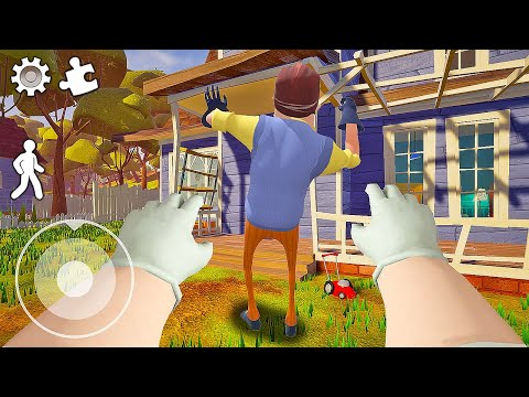 Funny moments in Hello Neighbor    Experiments with Neighbor 04  