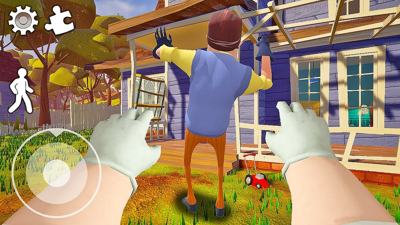 Download Funny moments in Hello Neighbor || Experiments with Neighbor 04