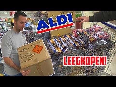 ALDI VUURWERK LEEGKOPEN! | EN AFSTEKEN!