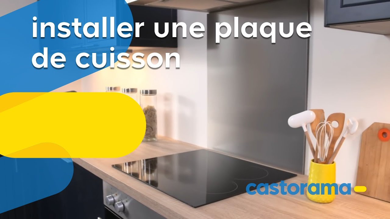 comment installer une plaque de cuisson lectrique castorama youtube. Black Bedroom Furniture Sets. Home Design Ideas
