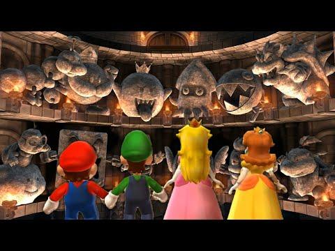 Mario Party 9 - Boss Rush - Mario VS Luigi VS Peach VS Daisy