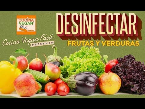 Con y frutas y verduras bicarbonato vinagre lavar