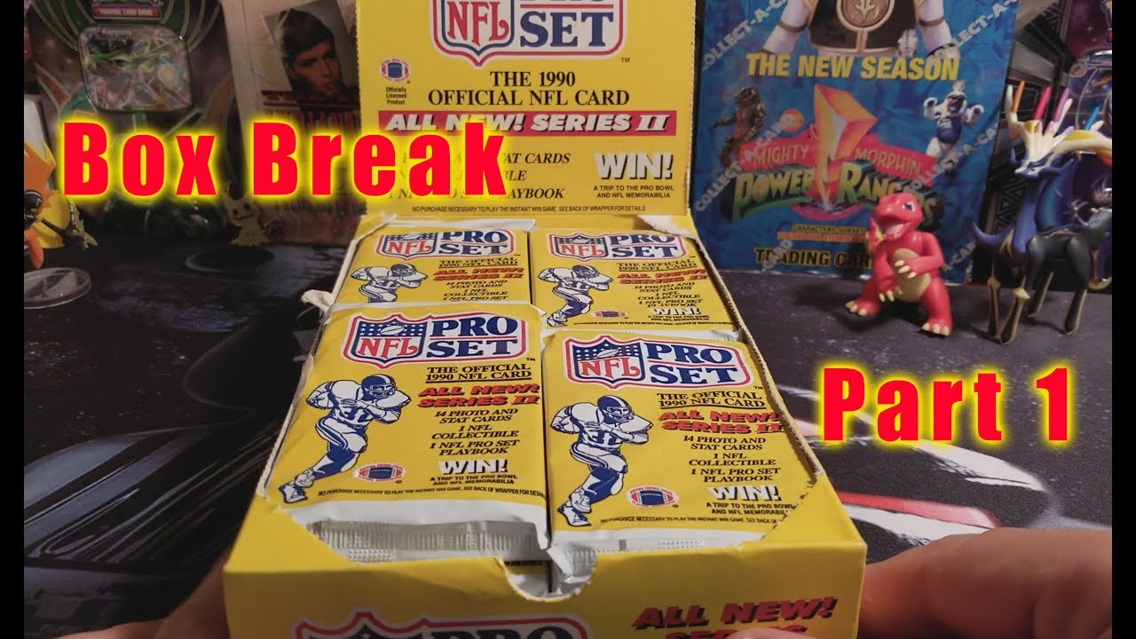 Box Break 1990 Pro Set Nfl Part 1